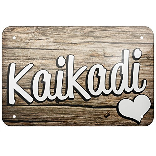 Metal Sign Kaikadi, Dog Breed India, Small 12x18 Inch Metal Tin Sings (Best Small Breed Dogs For India)