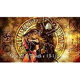 #14 - Yu-gi-oh Dark Magician Girl PLAYMAT, Yu-gi-oh Dark Magician Dark Magician Girl Play mat | Custom Play mat | Size 23-7/8-Inch x 13-1/2-Inch (AArt) by AAr-T