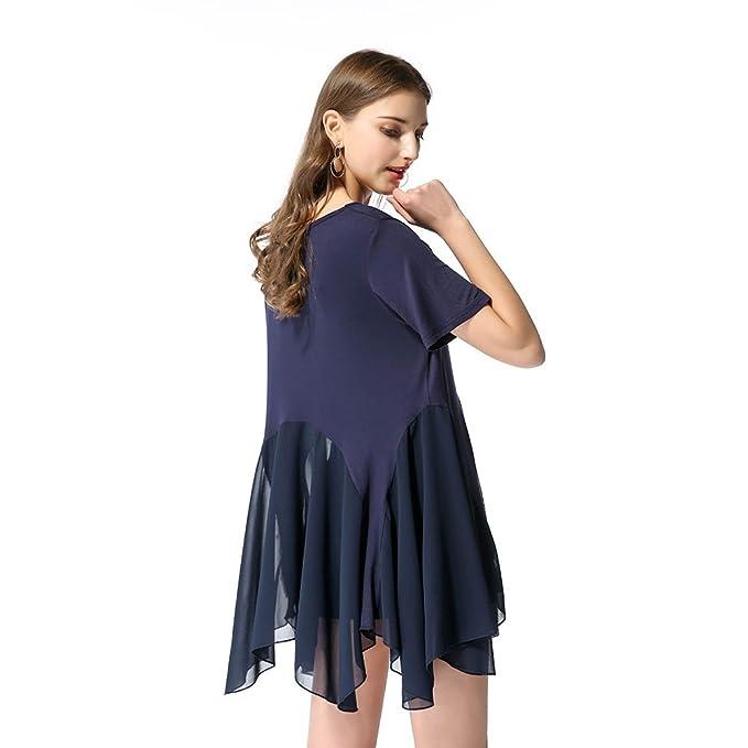 Vestidos Cortos Atractivos Del Verano Escarpado Para Las Mujeres Vestidos Ocasionales Del O-cuello Señoras
