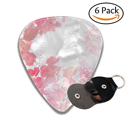 - Wxf Abstract Autumn Background Image Full Layered Photography Watercolor Texture Paper Illustration Colorful Celluloid Guitar Picks Plectrums For Guitar Bass .71mm 6 Pack