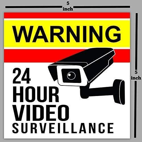 Amazon.com: Pegatina de vigilancia para cámara: Office Products