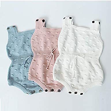 Bratyeessi Baby Girls Rompers Kids Autumn Spring Jumpsuit Cute Newborn Baby Clothes Knitted Bodysuit 0-12 Months