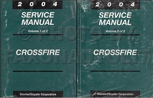 2004 chrysler crossfire repair shop manual set original chrysler rh amazon com 2004 Chrysler Crossfire Problems 2004 Chrysler Crossfire Spare Tire