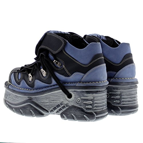 New Rock Womens M1075 C20 Turbo Leather Shoes Blue