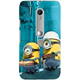 Clapcart Minions Printed Mobile Back Cover for Moto G 3rd Gen / Moto G3 -Multicolor