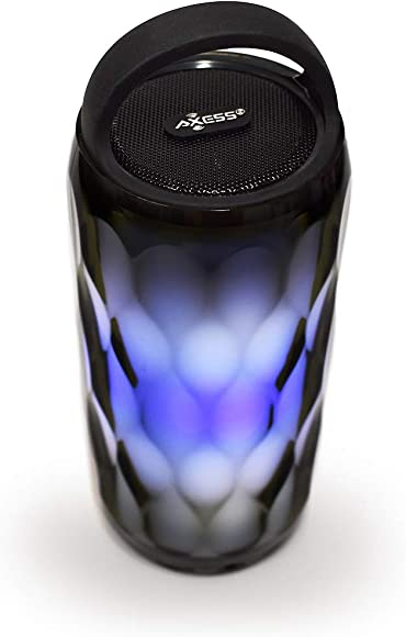 Axess SPBL1095 Bluetooth Crystal LED Wireless Speaker, Night Light Wireless Speaker, 8 Lighting Styles Colors, Handsfree, AUX TF Card Inputs, Rechargeable Battery USB Charger