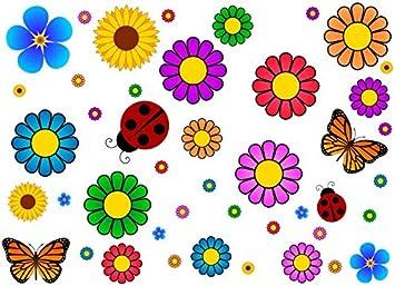 Amazon.com: 44 piezas de accesorios de Flower Power Vehículo ...