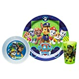 Zak! Designs Mealtime Set with Plate, Bowl and Tumbler featuring Paw Patrol Graphics
