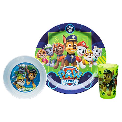 Nickelodeon PWPB-0392-B Paw Patrol Kids Dinnerware Sets, 3 Piece Boy -