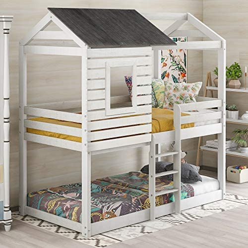 Merax Twin Over Twin Bunk Bed