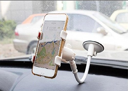 Price comparison product image Car Phone iBarbe Holder Flexible Mobile Phone Holder,sucker Multi-angle Gooseneck Cell Phone Clip Holder Car Mount ,Bed Lazy Bracket Mobile Stand ,Support All Mobiles Cell Phone Holder