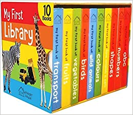 My First Library : Boxset of 10 Board Books for Kids: Wonder House