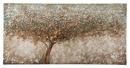 nature Design - O'Keria Wall Art - Contemporary - Gallery Wrapped Canvas - Tree Design in Brown/Green/Cream ()