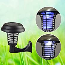 2in1LED Solar Power Mosquito Killer UV Lamp, Mosquito Insect Pest Bug Zapper Killer, Outdoor Garden Lawn Camping Landscape Light
