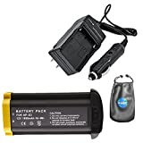 Digital Replacement Camera and Camcorder Battery for Canon NP-E3, 7084A001, EOS 1D - Includes Lens Pouch