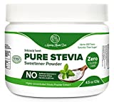Pure Stevia Powder Extract Sweetener - Zero Calorie Sugar Substitute - No Artificial Ingredients