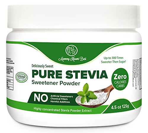 Pure Stevia Powder Extract Sweetener - Zero Calorie Sugar Substitute - Completely Free of Artificial Ingredients (2,250 Servings)