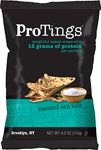 ProTings Protein Chips, Toasted Sea Salt (4.0 oz), Multi-Serving Bag