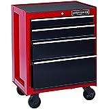 Craftsman 26-Inch 4-Drawer Rolling Cabinet - Red