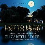 Last to Know | Elizabeth Adler