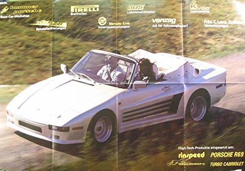 Porsche Rinspeed R69 Turbo Cabriolet Poster at Amazons Entertainment Collectibles Store