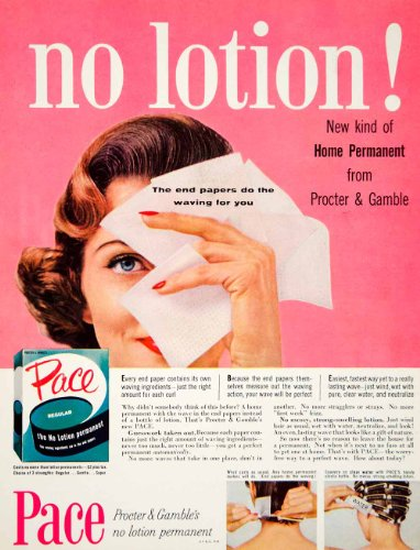 1958-ad-vintage-pace-home-permanent-hair-curl-wave-end-papers-procter-gamble-original-print-ad