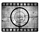 Luxlady Mousepad Vintage movie film strip with countdown border over grunge background IMAGE 28712210