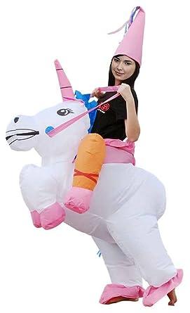 1fffaf8c96696 Ilishop Fancy Dress Inflatable Unicorn Rider Halloween Costume For Adult