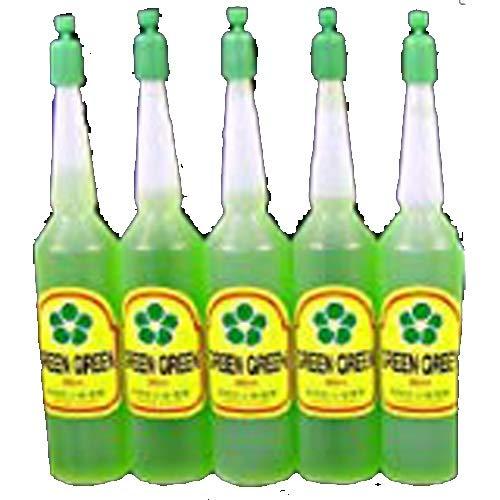 5 Bottles Green Green Plant Food Lucky Bamboo Food (36ml/bottle)