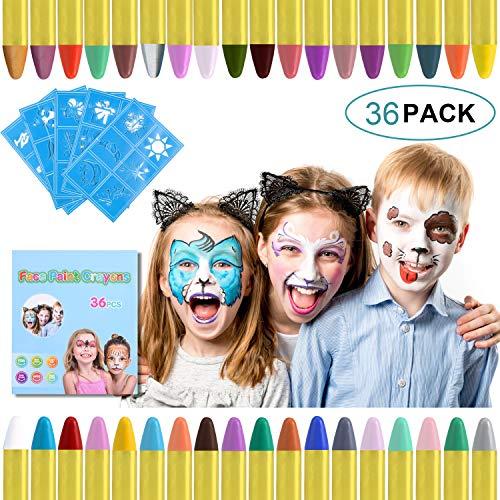 🥇 URAQT Crayones de Pintura Facial