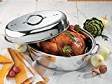 R and B Import CS-1001 Non Stick Roaster with Rack
