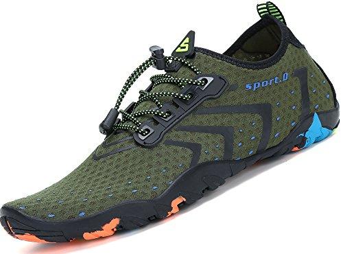 Saguaro Skin Shoes Descalzo acuático Aqua Calcetines para de Nadada de la Playa de la Resaca de la Yoga Corrugado Verde
