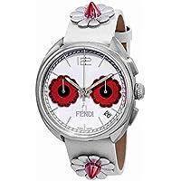 Fendi Momento Flowerland Chronograph Women's Watch (White)