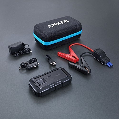 Anker PowerCore Jump Starter mini, 400A Peak 12V 9000mAh, for Gasoline Engines up to 2.8L, Portable Charger Power Bank, Advanced Safety Protection and Built-In LED Flashlight