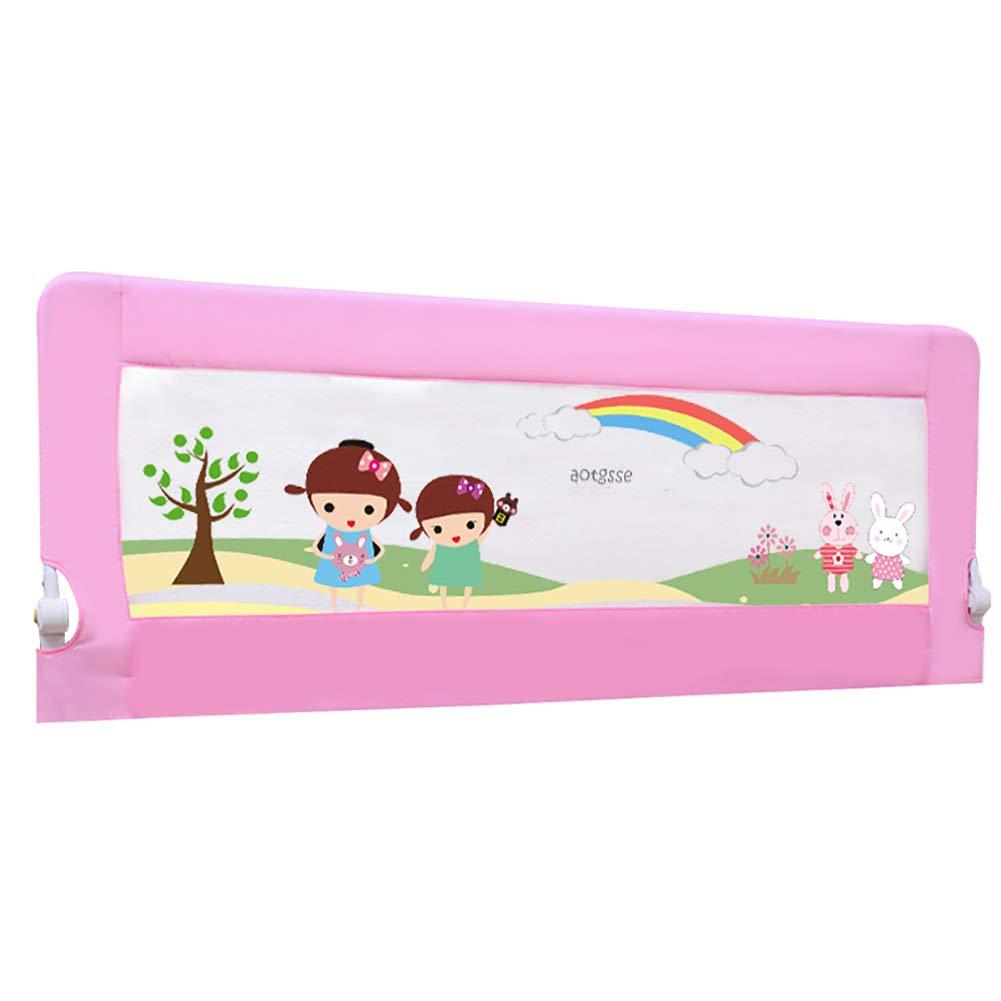 ベッドフェンス 幼児ベッドレールガードのベッドレールキッズツイン、ダブル、ユニバーサルマットレス子供ベビーベッドレール :、200cmロング B07JXYYF7D (色 : Pink) (色 Pink B07JXYYF7D, 伊豆のワイン蔵 なかじまや:6883a3a0 --- amlakzamanpour.com