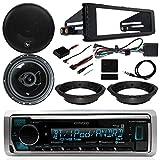 1998-2013 Harley - Kenwood Digital Media Radio, 2X 6.5 Audiopipe CSL Series Speakers, Dash Radio Install Kit, Speaker Adapters, Thumb Control Module, Antenna