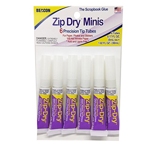 Beacon BCN02004 Zip Dry Mini Paper Glue, 6 Piece]()