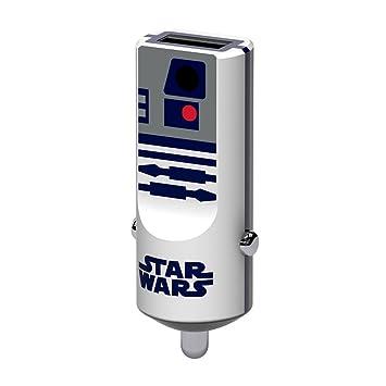 Tribe Star Wars 2.4 A Cargador de coche Fast Charge I USB Cargador Universal para iPhone, iPad, Smartphone Samsung Galaxy, Huawei, LG, Nexus - R2D2