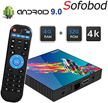 Sofobod A95X R3 Smart TV Box Android 9.0 4GB RAM+32GB ROM RK3318 Quad-Core 4K HD Set Top Box H.265 Decoding 2.4G/5G Dual WiFi BT4.0 TV Box: Amazon.es: Electrónica
