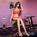 UUDOLL 5.18ft Sex Doll Lifelike Silicone TPE Big Boob with Vagina Anal Oral for Man - Natural Skin