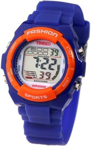Time100 Kids Digital Watch Timing Multifunctional Dark Blue Strap Sport Watch for Boys