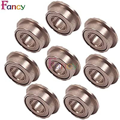 10PCS MF63zz Mini Metal Double Shielded Flanged Ball Bearings 3mmX6mmX2.5mm