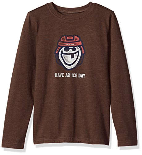 eeve Boys Tee Ice Day Hockey, Heather Rich Brown, Medium ()