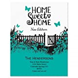 Sweet Home Moving Announcements Postcards - Set of 24, Personalized with Address, 5-1/4'' x 4'', New Address Cards, Just Moved Cards, Moving Cards