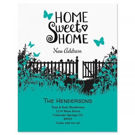 Sweet Home Moving Announcements Postcards - Set of 24, Personalized with Address, 5-1/4