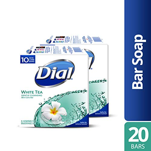 Dial Skin Care Bar Soap, White Tea, 4 Ounce, 20 Bars