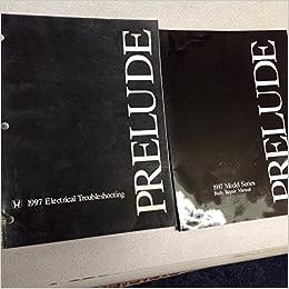 1997 1998 1999 honda prelude electrical wiring diagram & supplement manual  set paperback – 1999
