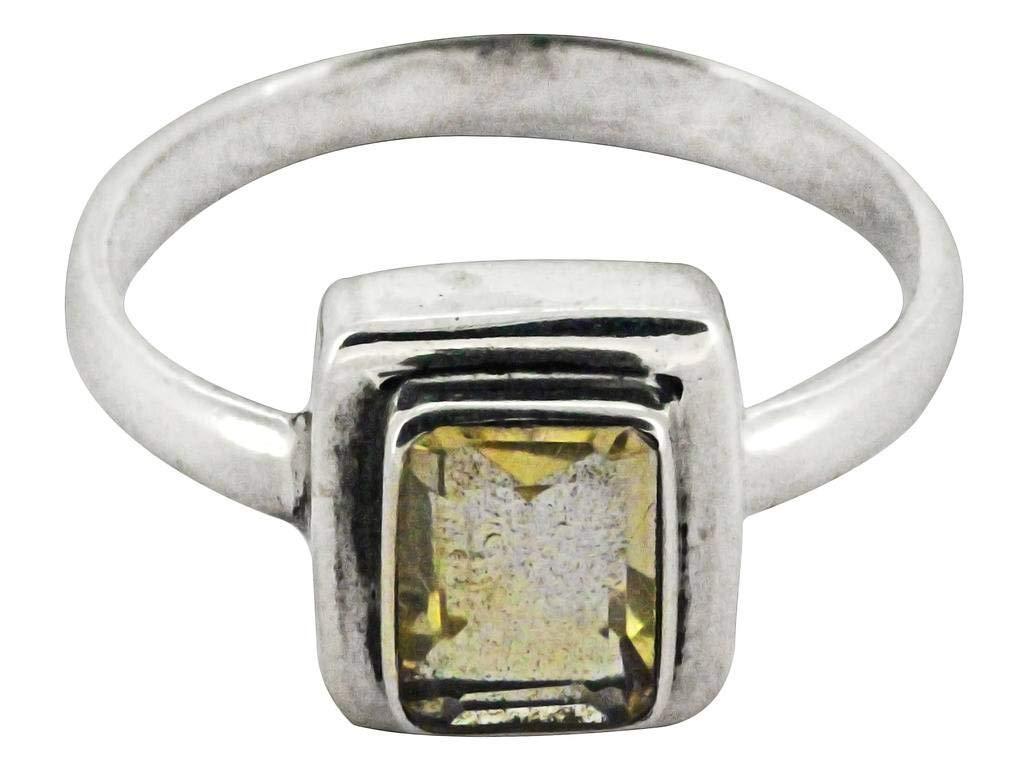M/s Gajraj Geniune Citrine Gemstone 925 Sterling Silver Ring, US-9.5