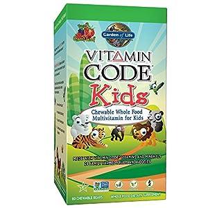 Garden of Life Vegetarian Multivitamin Supplement for Kids - Vitamin Code Kids Chewable Raw Whole Food Vitamin with Probiotics