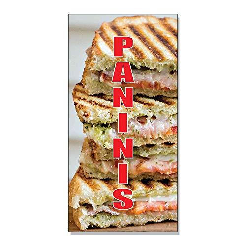 TiuKiu Label Decal Sticker - Paninis Restaurant Food Bar Decal Sticker Retail Store Sign - 8